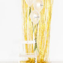 Lametta Partyvorhang gold-1
