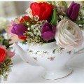 Lieschen und Ruth Vintage Blumenvasen Teekanne