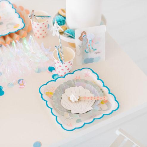 Dekoration Kindergeburtstag Meerjungfrau