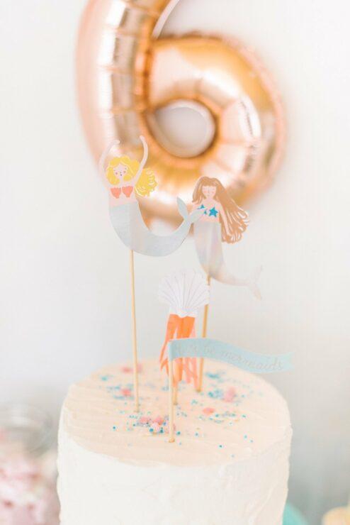 Cake Topper Meerjungfrauen Kindergeburtstag