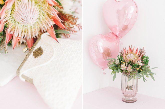 November Brautstrauß mit einer Protea2