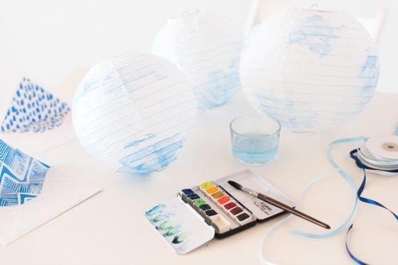 DIY: Aquarell Lampions selber machen