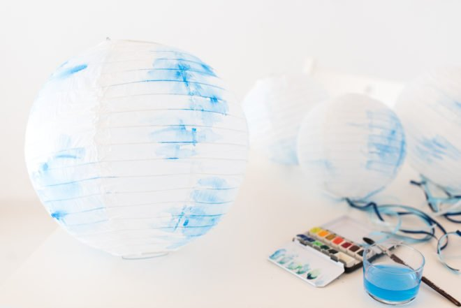 Lampion DIY Aquarell