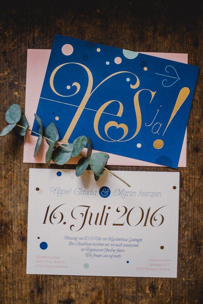 Einladung Hochzeit am Ammersee