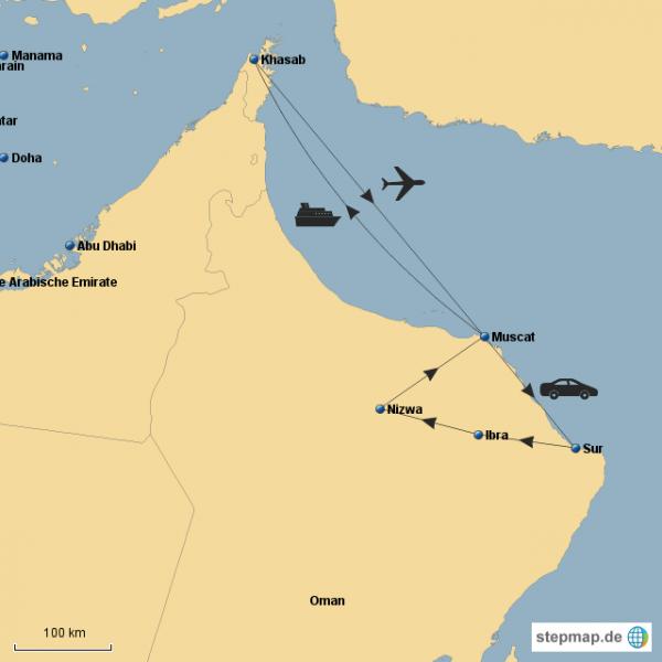 Oman reiseroute