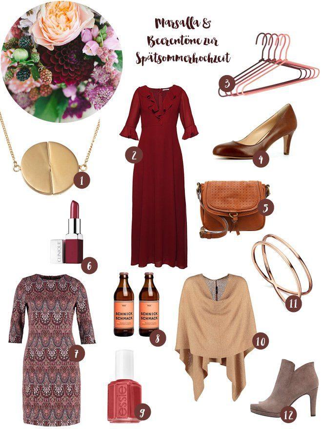 Outfit Kleid Brautjungfer Herbsthochzeit