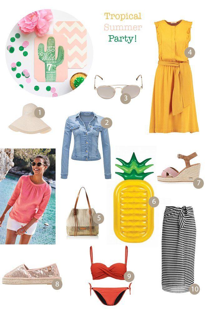 Outfit Sommerhochzeit Party Urlaub