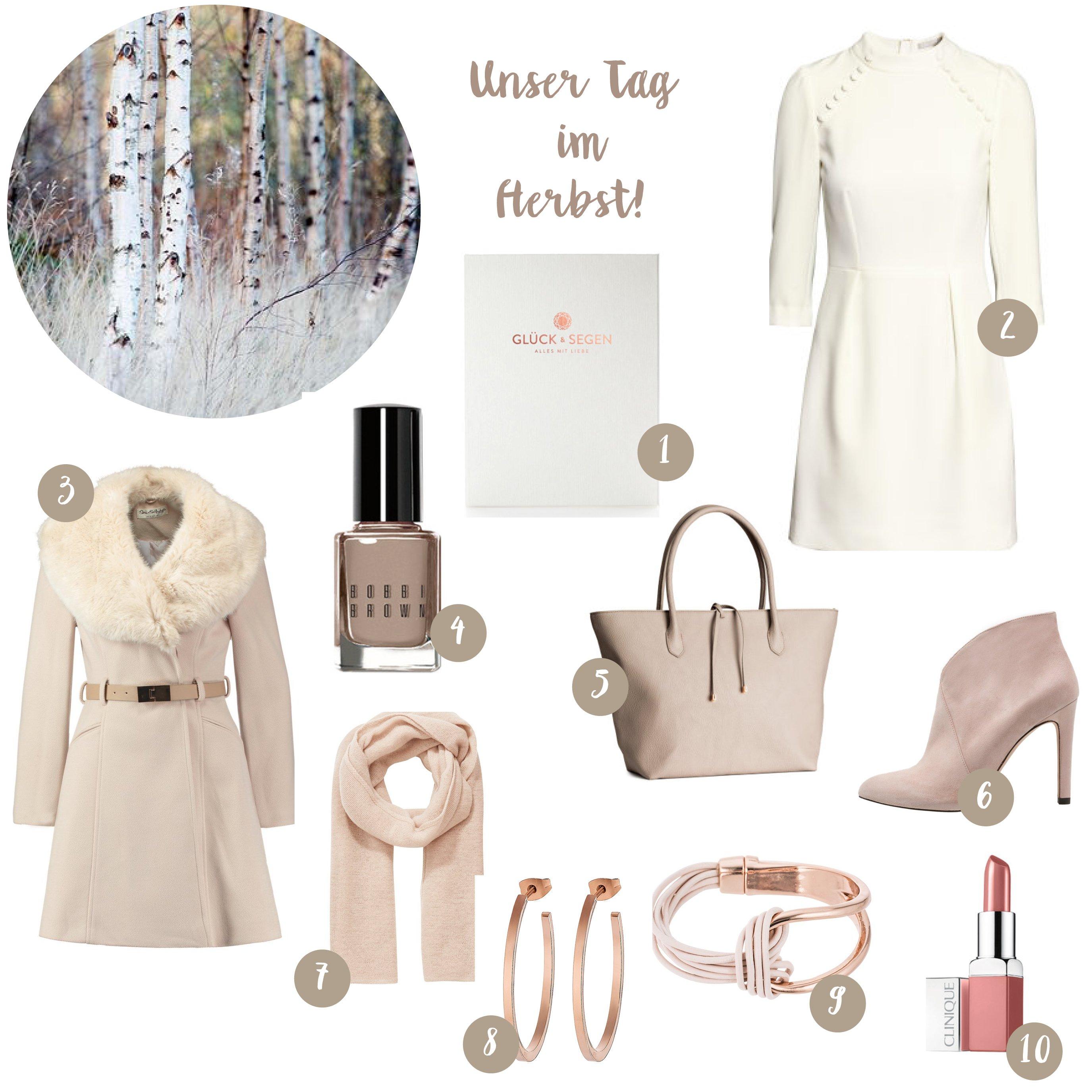 Outfit für die standesamtliche Trauung im Herbst