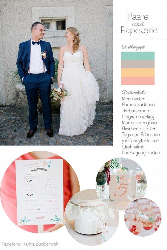 Paare und Papeterie: Karina Buddensiek
