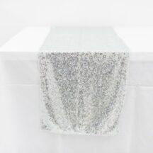 Pailletten Tischläufer Tischdecke und Bänder-1
