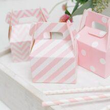 Papierbox für Gastgeschenke ros gemustert-007