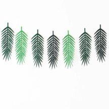Papiergirlande Greenery