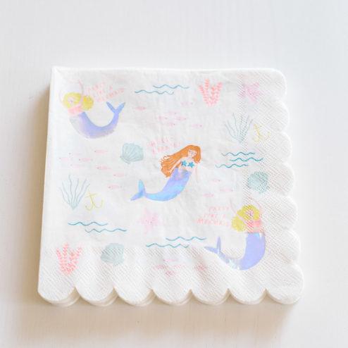 Papierservietten Meerjungfrau-1