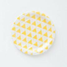 Pappteller Dreiecke gelb-1