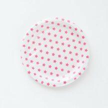 Pappteller Sterne pink-1