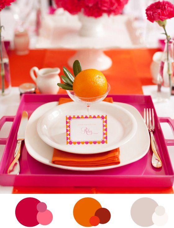 Patente Palette: pink und orange gegen Herbsttristesse