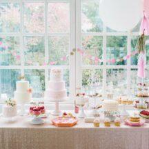 Pailiettentischdecken in vielen Größe und Farben, auch in Champagner rosé