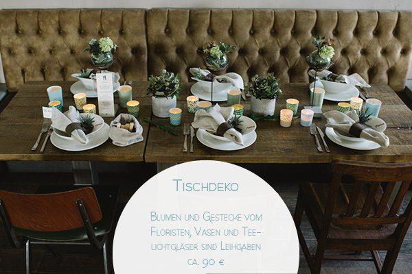 Preis Tischdekoration Florist Hochzeit