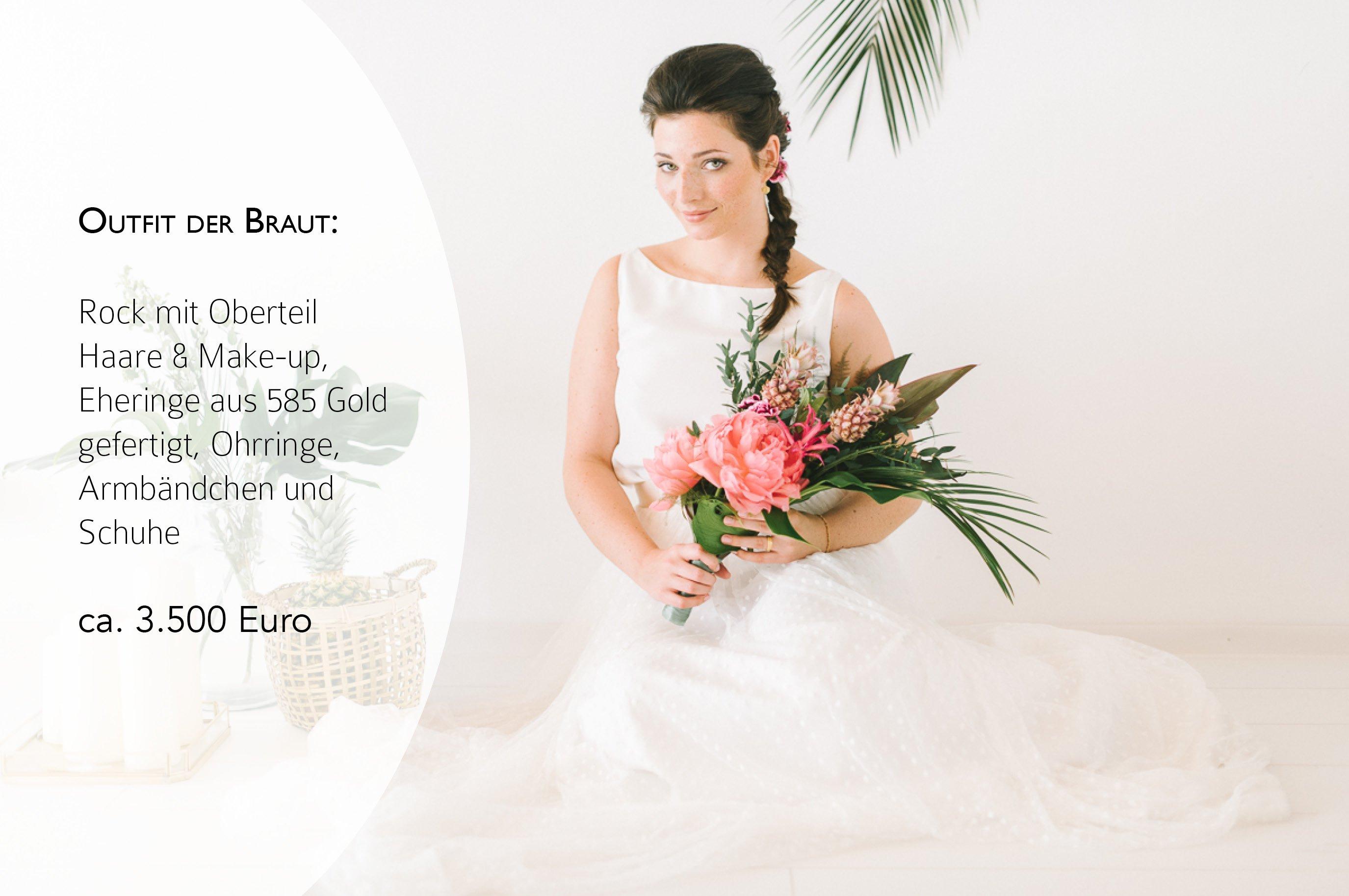 Preise für Brautkleid, Hochzeitstorte und Papeterie