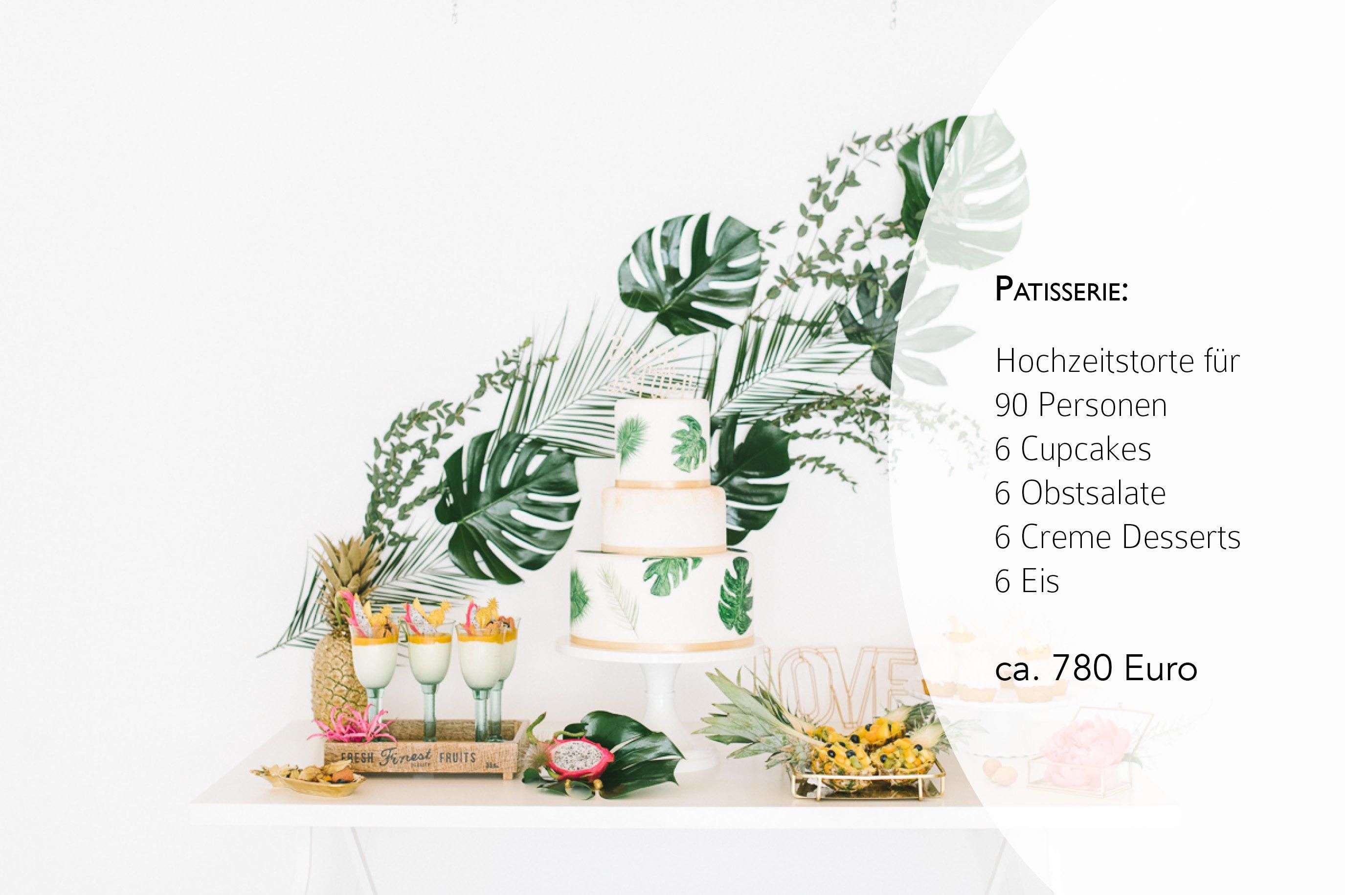 Preise für Brautkleid, Hochzeitstorte und Papeterie4