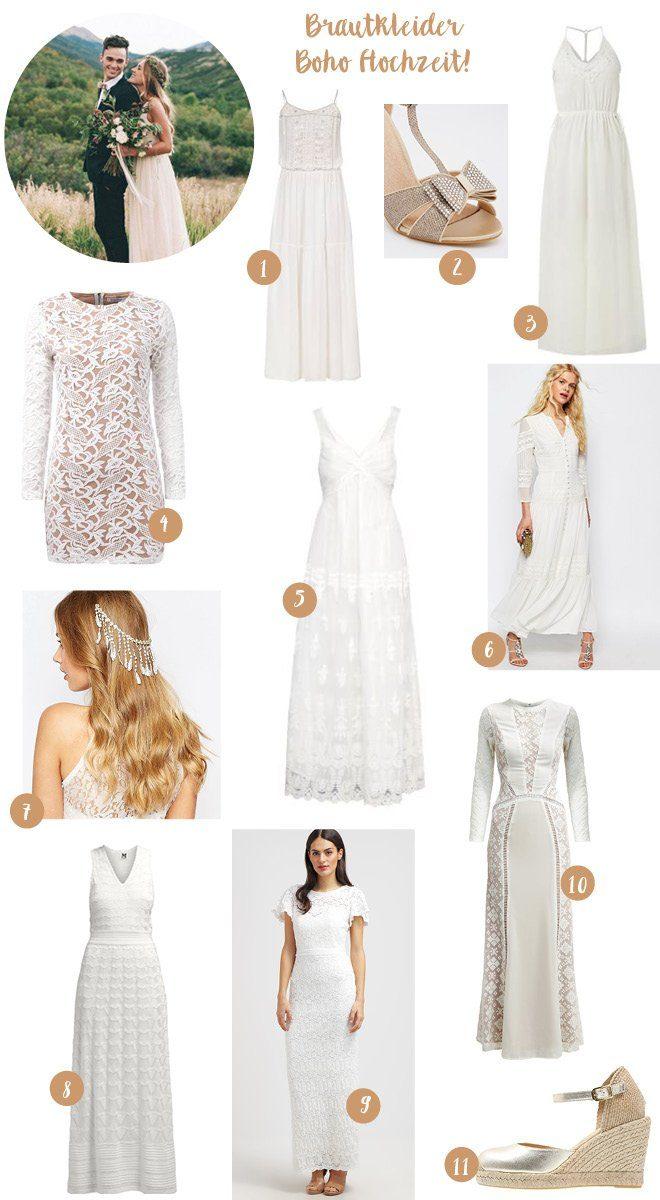 Hippe Brautkleider für die Bohohochzeit, die kein Vermögen kosten
