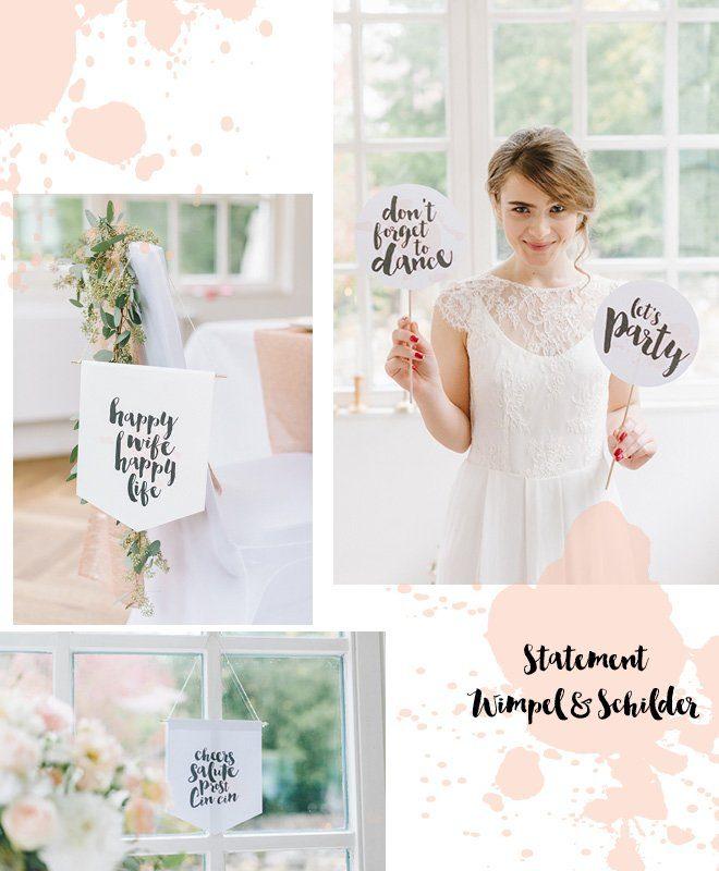 Hochzeitsschilder und Photo Booth Accessoires