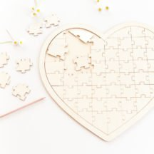 Puzzle Herz aus Holz - Gaestebuch Alternative Hochzeit -2
