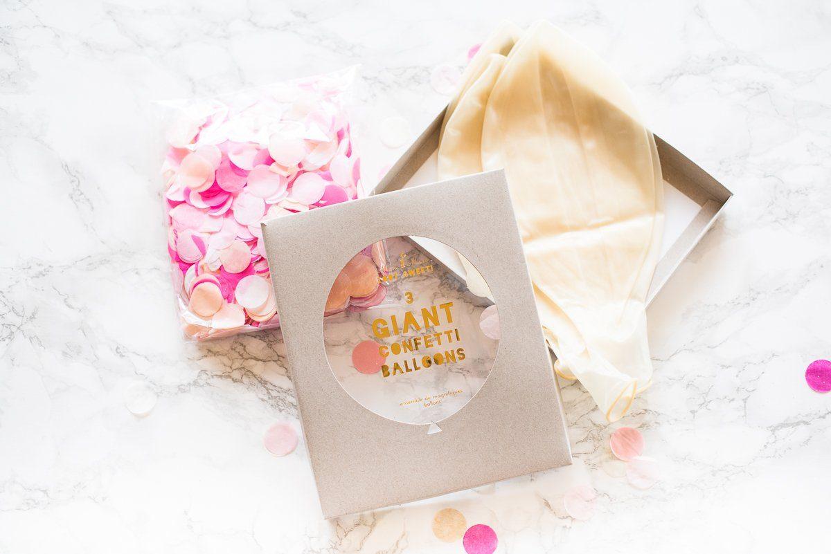 riesen konfetti ballon set pink fr ulein k sagt ja partyshop. Black Bedroom Furniture Sets. Home Design Ideas