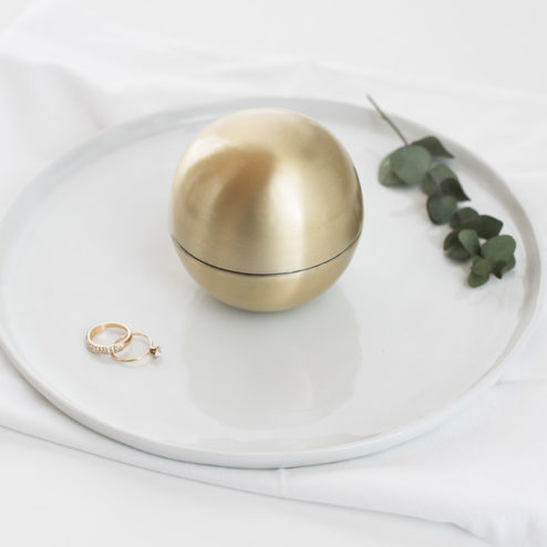 Ringkugel messing Gold