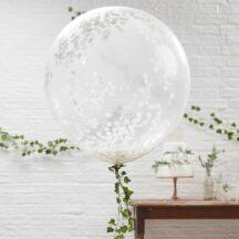 Riesen Konfetti Ballon weiß