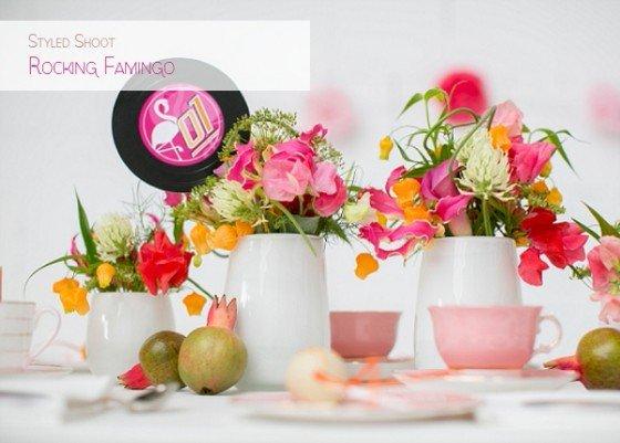 Vinyl, pink und 50er: Styled Shoot Rocking Flamingo