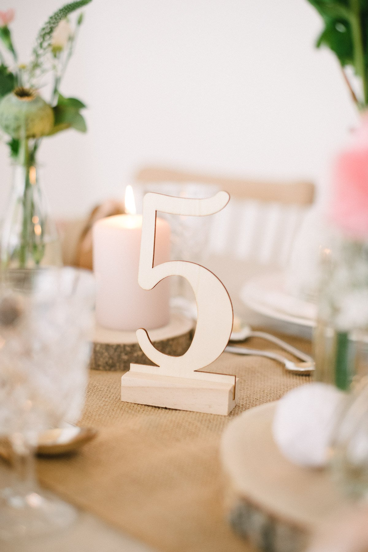 Tischnummern Ziffern Aus Holz Fraulein K Sagt Ja Partyshop