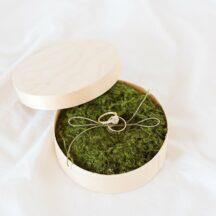 Runde Ringschachtel aus Holz