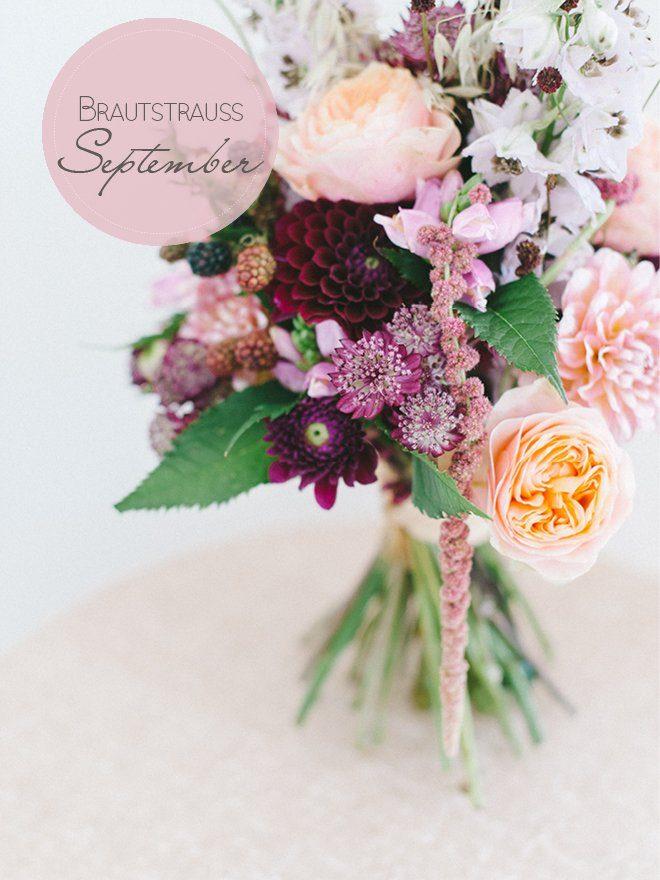 September Brautstrauß mit Beeren