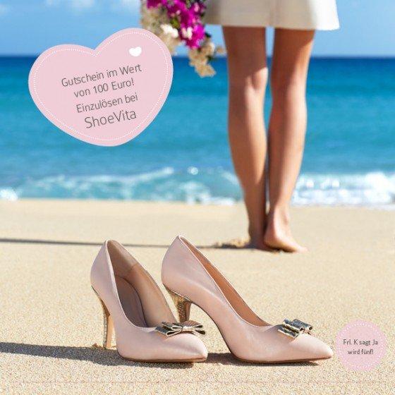 Frl. K feiert Geburtstag: 100 Euro Gutschein für einen individuellen Brautschuh von ShoeVita