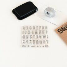 silikonstempel-set Buchstaben Schiller