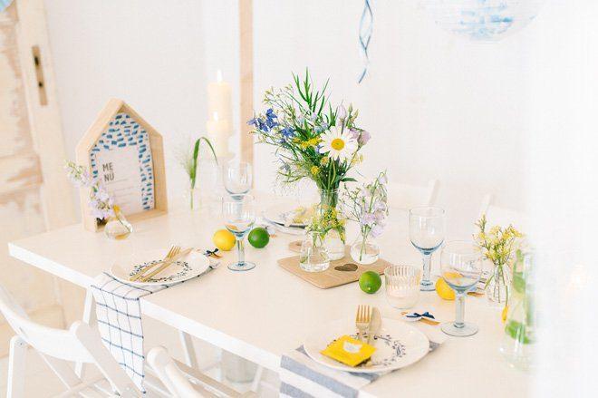 Sommerfrische Party Dekoration gelb blau6