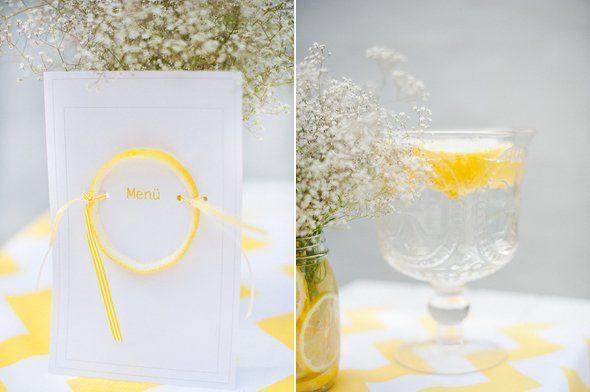 Sommerliche Tischdeko mit gelben Zitronen by Fräulein K sagt Ja2