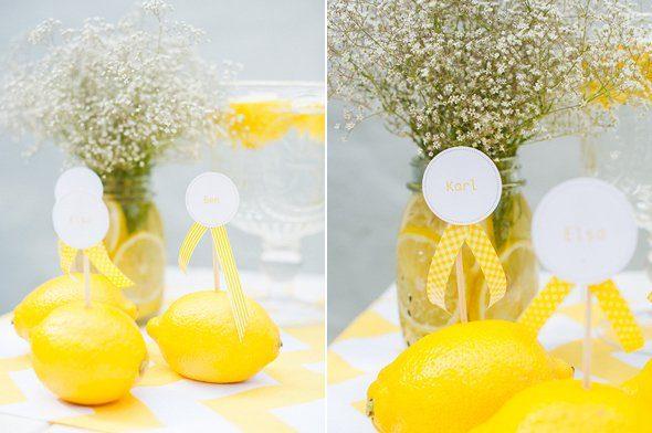 Sommerliche Tischdeko mit gelben Zitronen by Fräulein K sagt Ja6