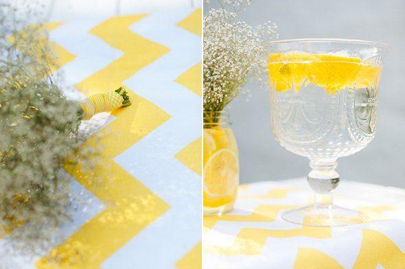 Sommerliche Tischdeko mit gelben Zitronen by Fräulein K sagt Ja7