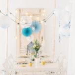 Sommertisch Partydeko blau gelb gold-4