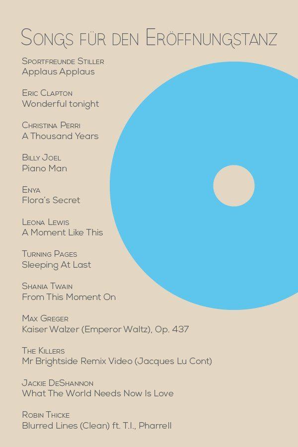Songs für den Eröffnungstanz