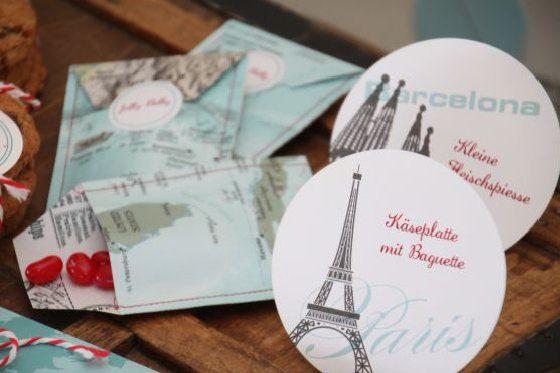 Hochzeitsthema Mit Der Landkarte Auf Reise Frulein K