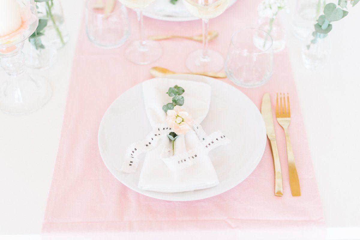 Tischdeko in Pastell Rosé Mint Vanille - Frl. K sagt Ja-10