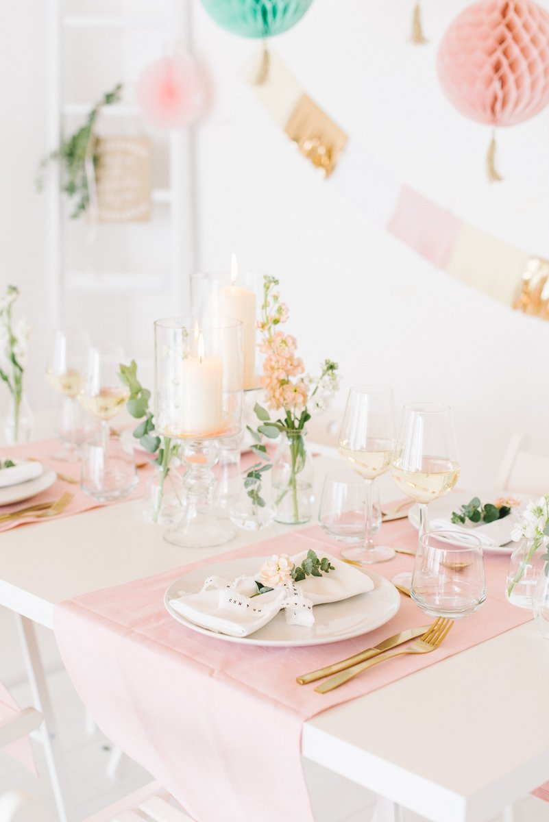 Tischdeko in Pastell Rosé Mint Vanille - Frl. K sagt Ja-14