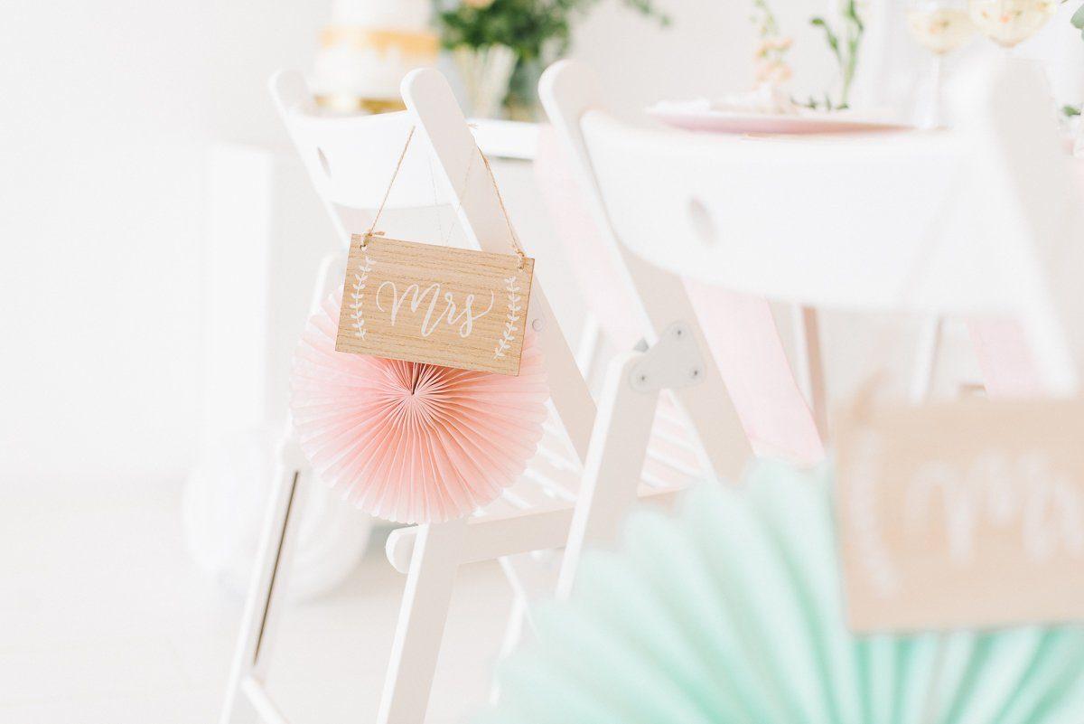 Tischdeko in Pastell Rosé Mint Vanille - Frl. K sagt Ja-23