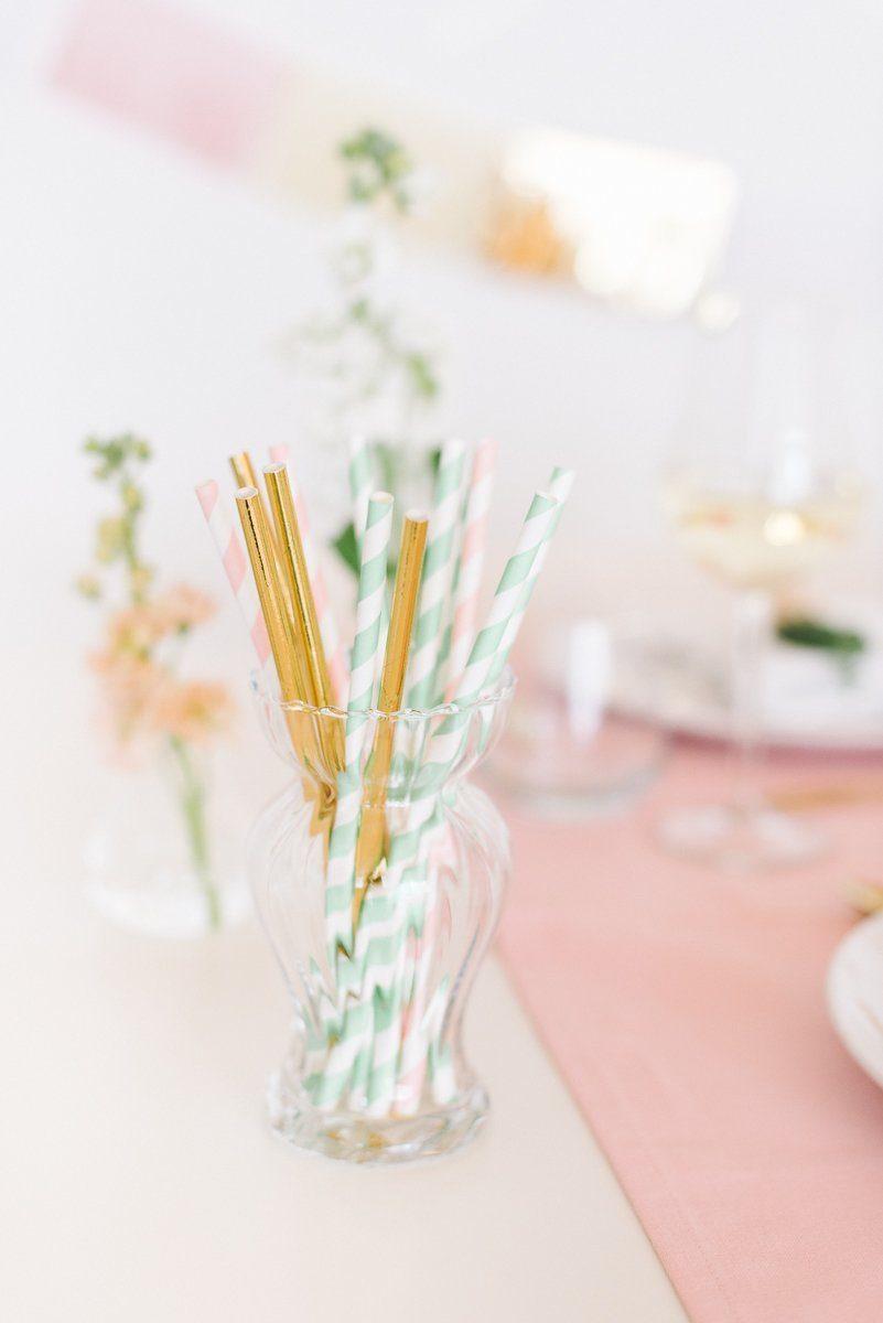 Tischdeko in Pastell Rosé Mint Vanille - Frl. K sagt Ja-34