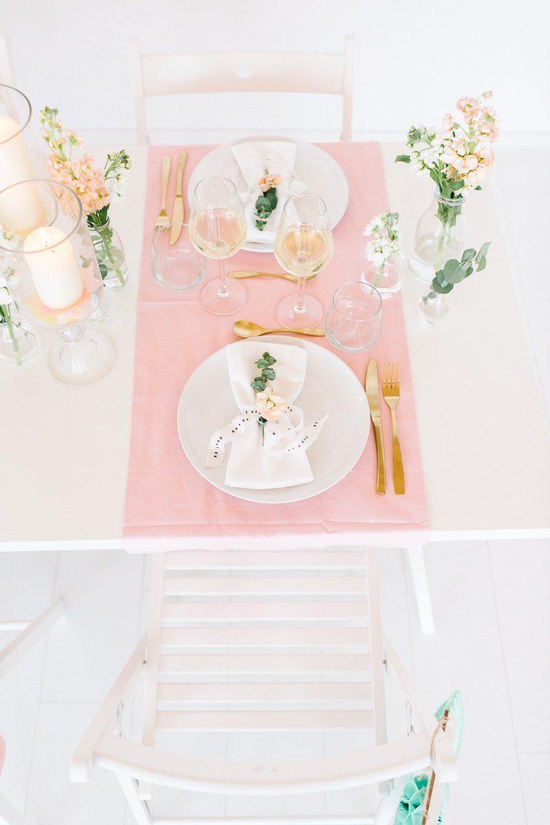 Tischdeko in Pastell Rosé Mint Vanille - Frl. K sagt Ja-40