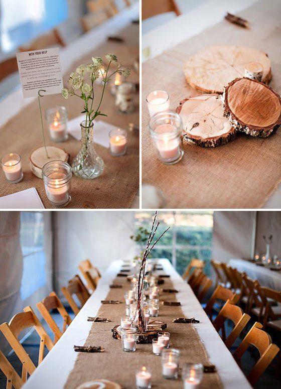 Tischdeko holzscheiben  Hochzeitsblog Fräulein K. Sagt Ja - Einfach schöner heiraten!