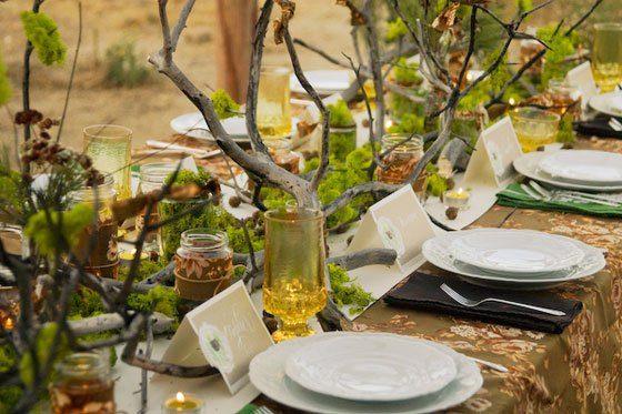 Hochzeitsdeko im herbst oder 39 alles selbst gesammelt 39 fr ulein k sagt ja hochzeitsblog - Tischdekoration naturmaterialien ...